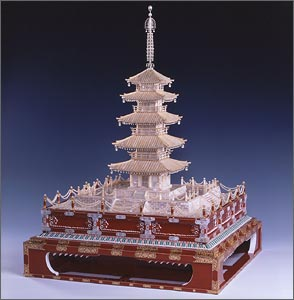 Mikimoto's Five-Storied Pagoda Source: http://www.mikimoto-pearl-museum.co.jp/eng/sanpo/index.html